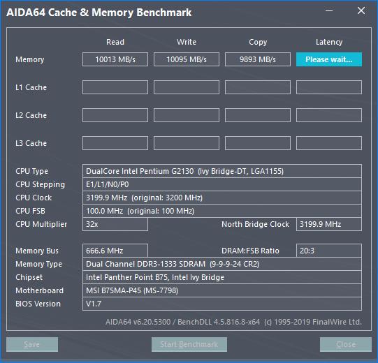 Тест памяти AIDA64